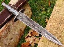 """Damascus knife Custom Handmade 11.50"""" D 2 Steel Handle Hunting Dagger Knife"""
