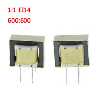 2 Pcs audio transformers 600:600 ohm europe 1:1 EI14 isolation transformer  SHK