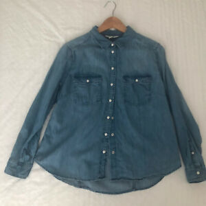 HM Ladies Denim Shirt - Size 18 (Slim Fit)