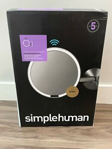 SimpleHuman Wall Mount Sensor Mirror, Gold/Brass, Rechargeable/Wall Mount NEW