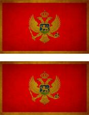 Montenegro Banner montenegrinische Fahnen Flaggen 30x45cm