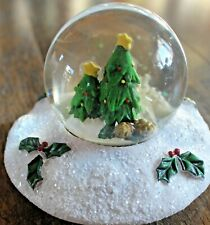Yankee Candle SNOWGLOBE SNOW GLOBE CHRISTMAS TREES Jar Topper ~~Rare~~