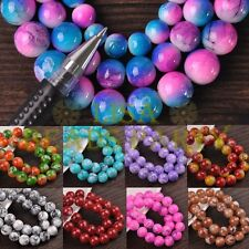 Bulk Wholesale 8mm 10mm 12mm Round Glass Loose  Spacer Beads Jewelry Making
