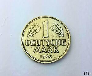 1 DM Münzen 1968 DFG Vergoldet 18 Karat