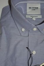 BEN SHERMAN TAILORING SHORT SLEEVE DRESS SHIRT NWT SMALL 14.5