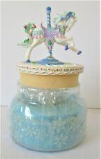 Luminous Treasures Winter Splendor Carousel 3rd in series Horse Peppermint Flaw