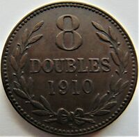 1910 H GUERNSEY 8 Doubles, grading VERY FINE.