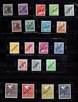 GERMANY BERLIN 1948 - BLACK OVERPRINT SET, SIGNED SCHLEGEL, Mi. Nr. 1-20