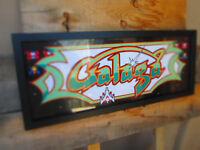 GALAGA  Framed Marquee artwork namco ARCADE GAME  COOL SIGN LOOK VIDEO PINBALL