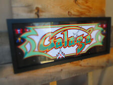 Galaga Framed Marquee artwork namco Arcade Game Cool Sign Look Video Pinball