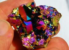 "7237x Rainbow FLAME AURA Quartz Titanium Seed Crystal Healing Cluster LARGE 1.6"""