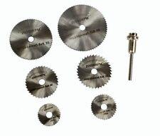 7 X HSS Rotary Tool Circular Wood Cutting Saw Blade Discs Mandrels Saws