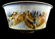 HUGE DAVID BATZ, CLEVELAND, OHIO, POTTERY HAND-THROWN BOWL, SIGNED, GORGEOUS