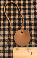 """100 Primitive Coffee Stained MINI 1"""" CIRCLE antique store Hang Tags Price lot"""
