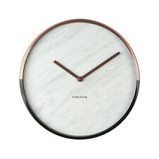 Karlsson Marble Delight Wall Clock in White Face and Copper/Black Case