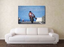 "Marco Simoncelli 30"" X 20"" Canvas  VERY rare Moto GP Oil Honda Framed Picture"