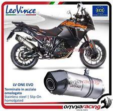 Leovince LV One acier Pot D'Echappement approuve KTM 1090 Adventure /R 2017>