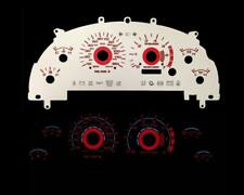 Red Reverse Instrument Cluster Panel Dash Glow Gauge Face For 99-04 Mustang V6