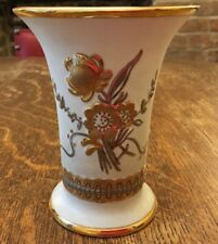 Gold And Silver Vase Flower Motif By Sneroll, Bohemia, Czech