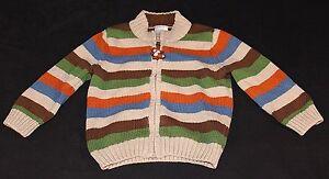 Gymboree 6-12 Months Baby Boy Zippered Sweater Cardigan Striped Cotton
