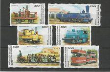 GUINEA 1996 RAIL TRANSPORT SG,1681-1686 UN/MM NH LOT 5893A