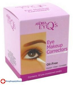 BL Andrea Eye Q's Eye Make-Up Correctors Swabs 50 Count - Two PACK
