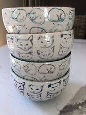 Four Anthropologie Leah Reena Goren Cat Bowls - You Choose Color - Red Or Pink