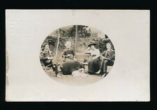 Glocestershire BRISTOL Effingham Rd ? family group in garden Used 1910 RP PPC
