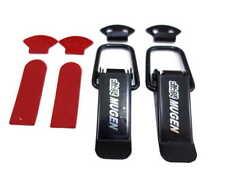 New Mugen Style Car Big Boot Bonnet Side Bumper Toggle Fastener Catch Clip Black