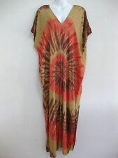 New Plus Size Women Tie Dye Maxi Dress Kimono V Neck Sundress Bohemian TDMD