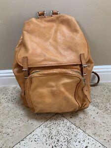 Vintage MEILI Swiss made leather backpack unisex