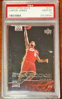 2003 Upper Deck LeBron James Rookie 301 PSA 10 GEM MINT (Case Has Scratches)