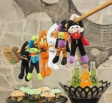 Plush Long Arm Halloween Ghoulish Characters 12 Pack