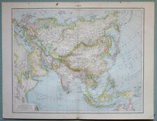 1881 Carte ~ Asie Inde Mongolie Arabie Perse Chinoises Empire Tibet Japon Burma