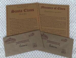 Personalised Santa Elf Christmas Letters Arrival Leaving Adoption Certificate