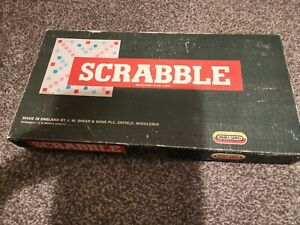Scrabble Board Game Vintage Spears Games Complete
