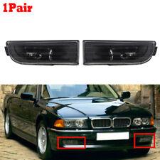 For BMW E38 7-Series 95-01 740i 750iL Bumper Fog Light No Bulbs Lamps Clear Lens