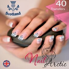 Scottish Thistle Nail Water Transfers Decal Art Stickers x 40