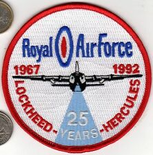 British Royal Air Force Lockheed Hercules 25 Year Patch 1967-1992 Squadron Wing