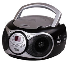 Trevi Portable Stereo Boombox with CD Player FM Radio & AUX-IN for MP3 Black