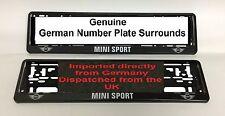 Mini Sport Numberplates Surrounds Pair