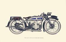 PRINT of VINTAGE MOTOR CYCLE  DOUGLAS STANDARD MODEL   c1928
