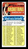 1970 Topps #101 Checklist 111-175 EX+ X1351429
