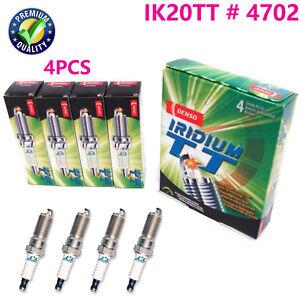 4X IK20TT 4702 Iridium Twin Tip Spark Plug For Audi Chery VW Toyota Jeep Subaru
