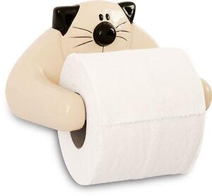 2Kewt Cat Ceramic Toilet Paper Holder