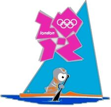 2012 LONDON  OLYMPIC MASCOT CANOE SPRINT GAMES MARK SPORTS PIN NEW