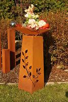 Säule Ranke Konus m. Edelstahlkugel Edelrost Rost  Garten Metall Skulptur Stele