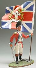 King & Country British Revolutionary Br004 Fusilier Officer With Flag Mib