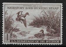 US Scott #RW9, Single 1942 Baldpates $1 VF MH