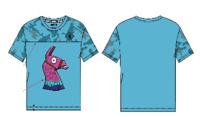 "FORTNITE T-shirt ""Lama Loot"" Camouflage Jungen Türkis Größen 122-164"